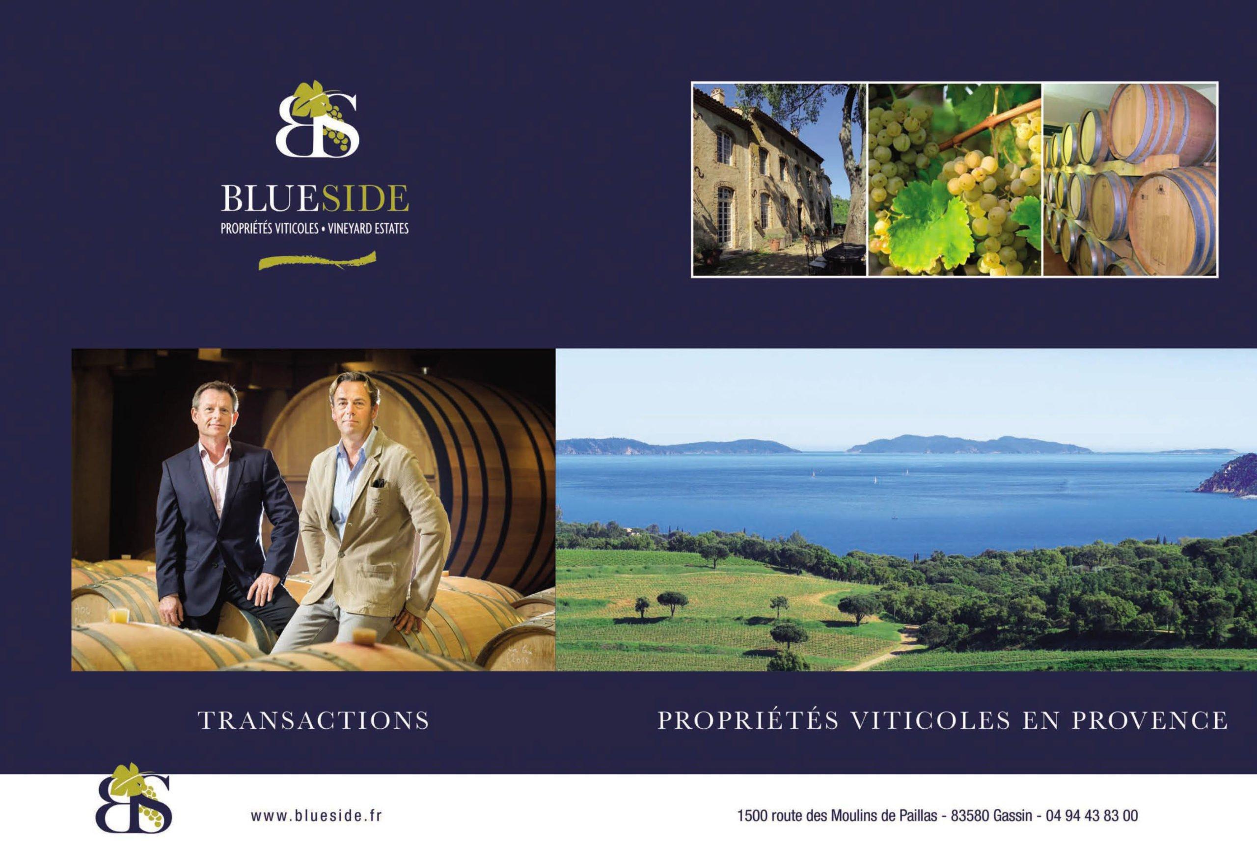 Blue Side, partenaire de référence des transactions viticoles en Provence